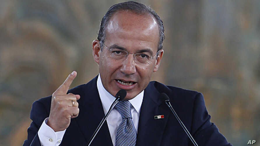 Mexico's President Felipe Calderon gives his State of the Nation address at the National Museum of Anthropology in Mexico City, September 2, 2011.