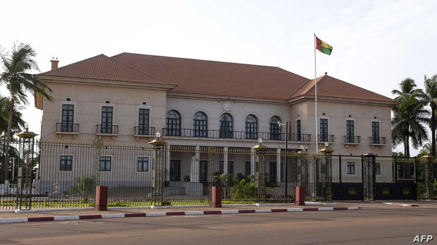 FILE - The Presidential Palace, the residence of the President of Guinea-Bissau, is pictured on May 9, 2017, in Bissau.