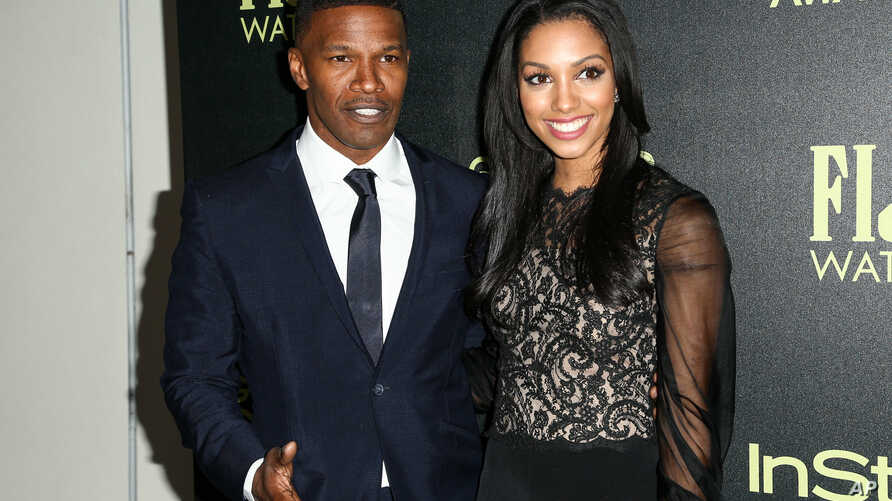 Jamie Foxx, left, and Corinne Foxx attend the Miss Golden Globe InStyle Party held at Ysabel on Nov. 17, 2015, in West Hollywood, Calif.