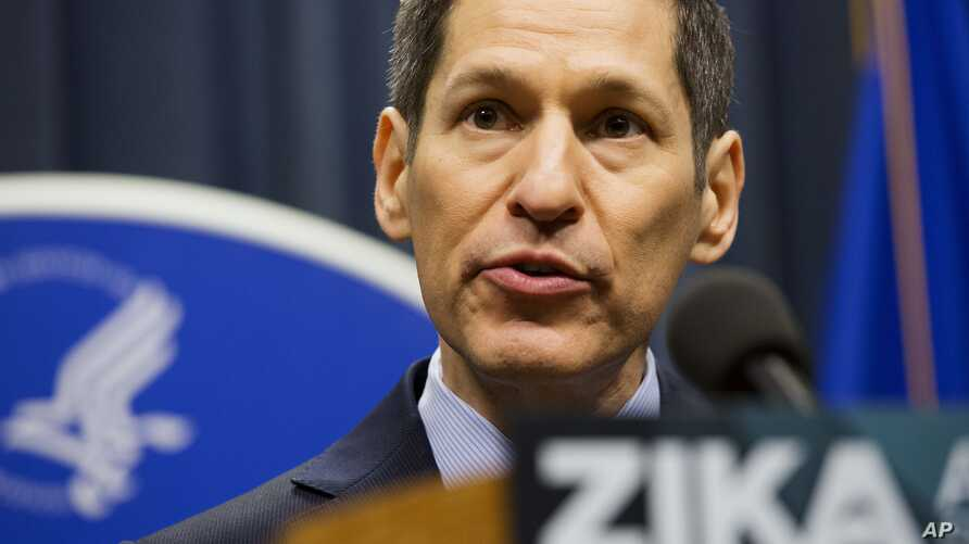 Centers for Disease Control and Prevention Director Dr. Thomas Frieden speaks during a press conference at a one-day Zika summit, April 1, 2016, in Atlanta.