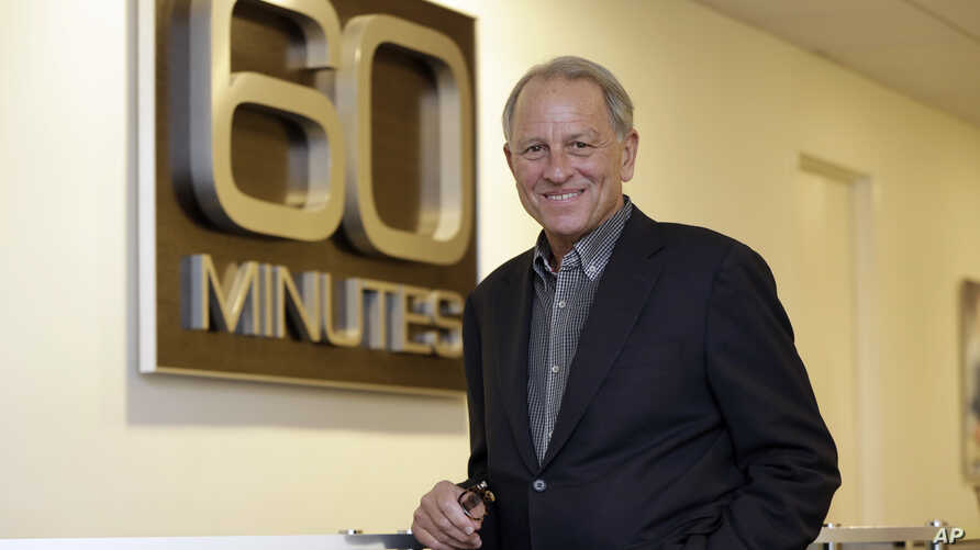 """FILE - """"60 Minutes"""" executive producer Jeff Fager poses for a photo at the """"60 Minutes"""" offices, in New York, Sept. 12, 2017."""