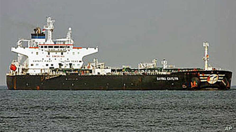 The Italian oil tanker Mv Savina Caylyn, which was seized by pirates east of the Yemeni island of Socotra in the Indian Ocean, February 8, 2011