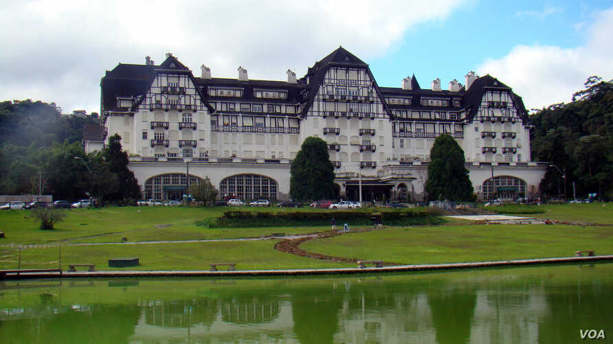 FILE - The Quitandinha Palace is a palace located in Petró