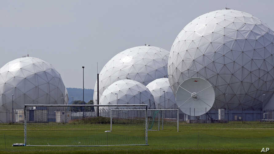 FILE - Germany's foreign intelligence agency the monitoring base in Bad Aibling, near Munich, Germany, July 8, 2013.