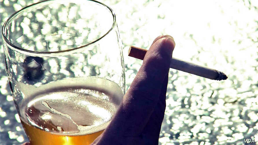 A new study sheds light on why many heavy drinkers also smoke tobacco.