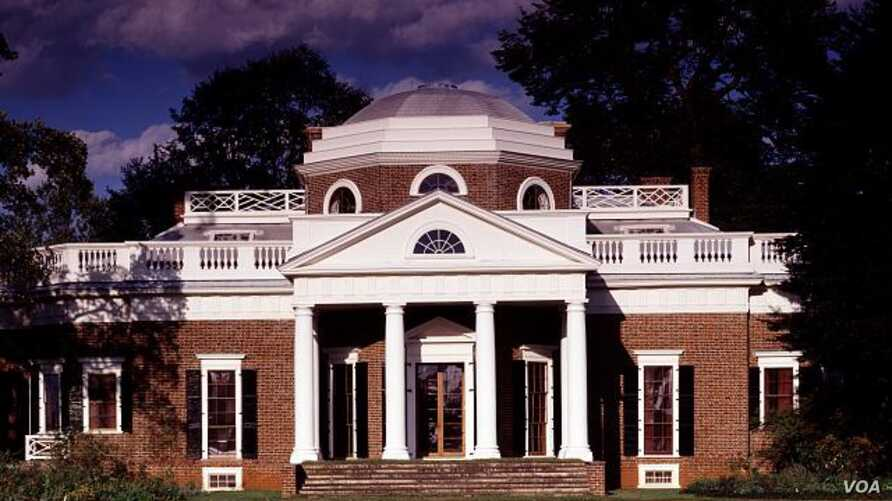 """Thomas Jefferson chose Italian Renaissance as the design for his Monticello Mansion. He called his home """"an essay in architecture."""" (Carol M. Highsmith)"""