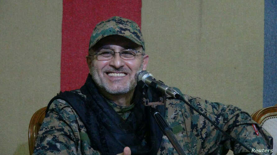 Top Hezbollah commander Mustafa Badreddine is seen in  this handout picture released by Hezbollah Media office on May 13, 2016.