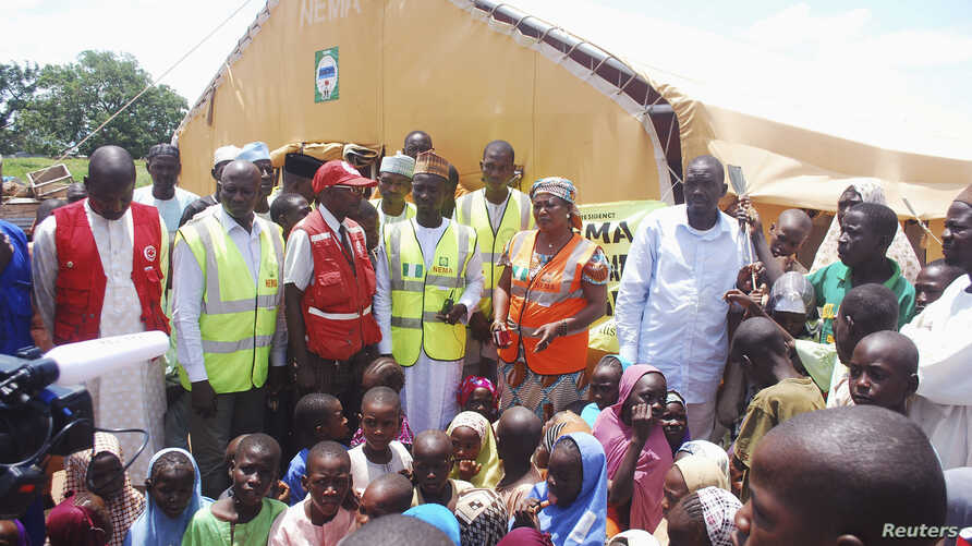 Fearing Boko Haram attacks, an estimated 9,000 Nigerians recently have fled to Cameroon. Others have sought safety in their home country, as seen at a refugee camp in Wurojuli, in Nigeria's Gombe state, Sept. 1, 2014.