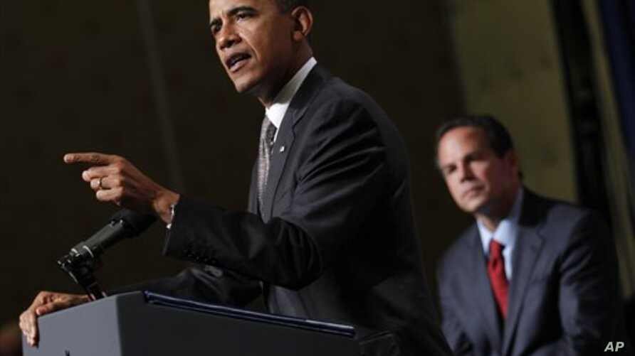 President Barack Obama delivers remarks at the DCCC reception at the Rhode Island Convention Center in, Providence, Rhode Island, 25 Oct 2010