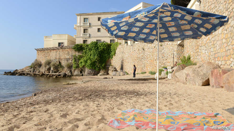 Locals object to a three-week closing of the public beach in front of the Saudi royal family's seaside villa in Vallauris, France.