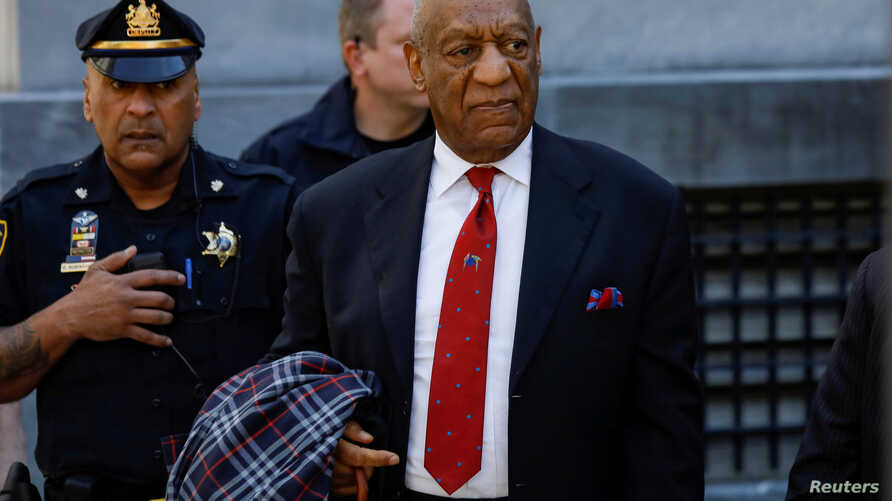 Actor and comedian Bill Cosby exits the Montgomery County Courthouse after a jury convicted him in a sexual assault retrial in Norristown, Pennsylvania, U.S., April 26, 2018.