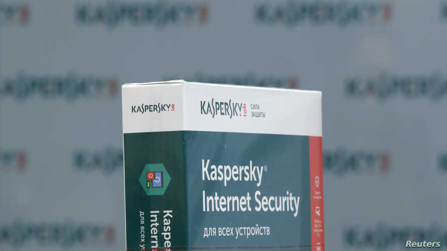 FILE - A view shows the software produced by Russia's Kaspersky Lab at the company's office in Moscow, Russia, Oct. 27, 2017.