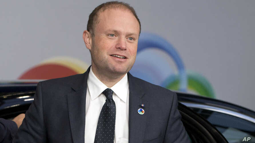 FILE -  In this file photo dated Nov. 24, 2017, Malta's Prime Minister Joseph Muscat arrives for an Eastern Partnership Summit in Brussels.