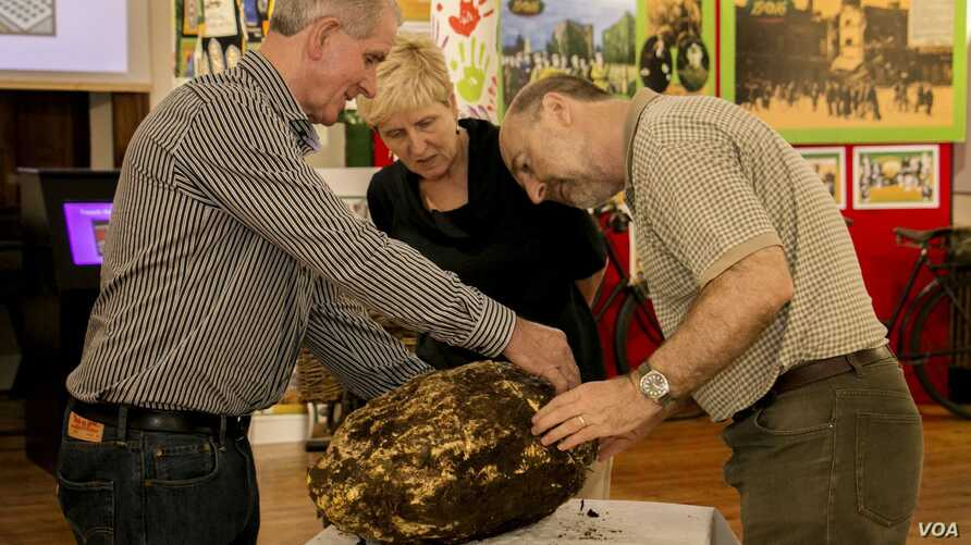 A 10-kilogram ball of 2,000-year-old butter was found in an Irish bog. (Cavan County Museum)