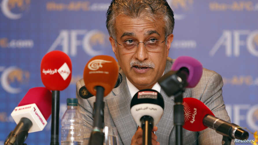 New Asian Football Confederation (AFC) President Sheikh Salman Bin Ebrahim Al Khalifa speaks during a news conference in Kuala Lumpur, Malaysia, May 2, 2013.