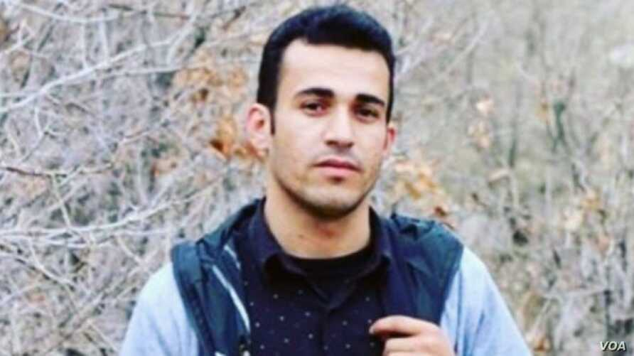 Iranian Kurdish dissident Ramin Hossein Panahi is seen in this undated image shared by human rights activists online.