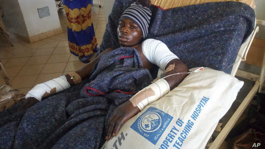 A man receives treatment at the Jos University teaching hospital in Jos, Nigeria, June 25, 2018, after clashes in central Nigeria between mostly Muslim herders and Christian farmers.