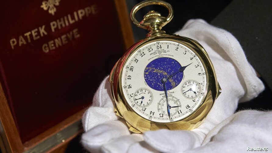 """The Henry Graves Supercomplication"" handmade watch by Patek Philippe, Sotheby's auction house, Geneva Nov. 5, 2014."
