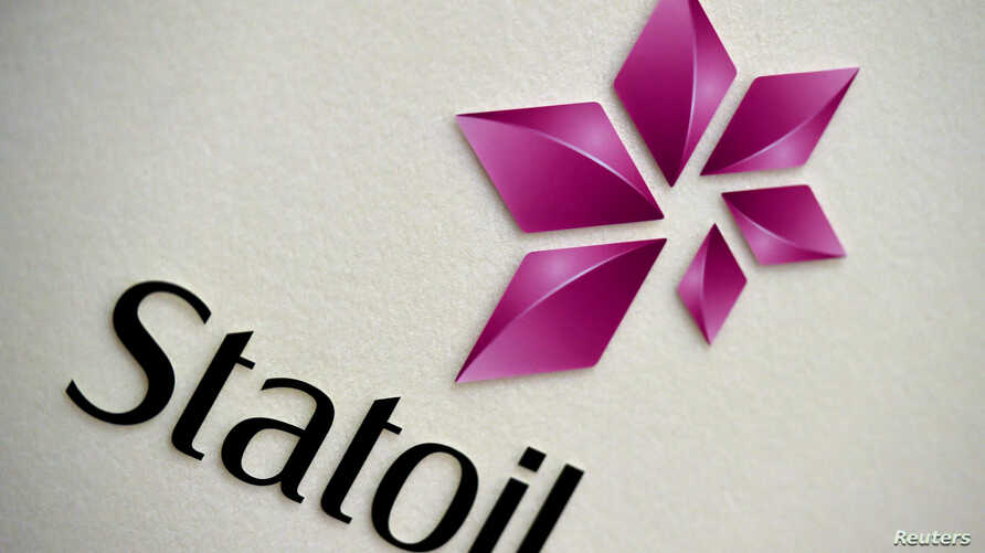 FILE: Statoil's logo is seen during a company results presentation in London, Feb. 6, 2015.