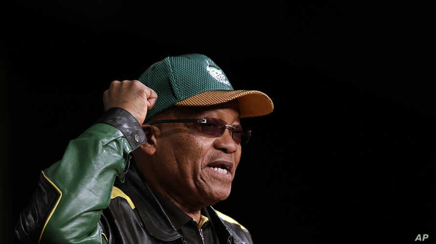 South Africa's ruling party president Jacob Zuma addresses party delegates, during the African national Congress policy conference in Johannesburg, South Africa, June 30, 2017.