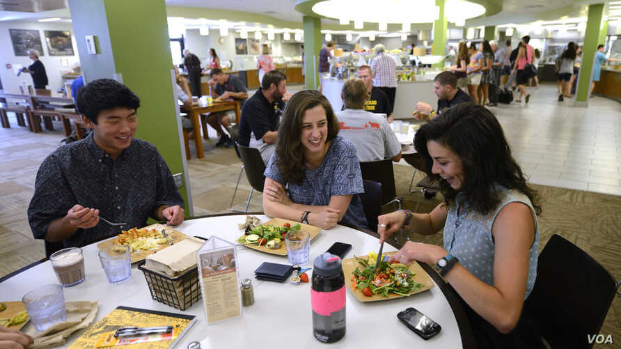 "Students dine at Colorado College in Colorado Springs where the staff ""strives to provide the college community with meals that are local, sustainable, delicious and nutritious,"" the school says."