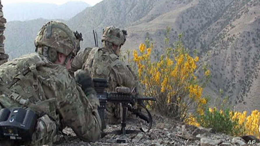 Paratroopers in Bermel spend hours tracking suspected Taliban and mapping their fighting positions, May 2011