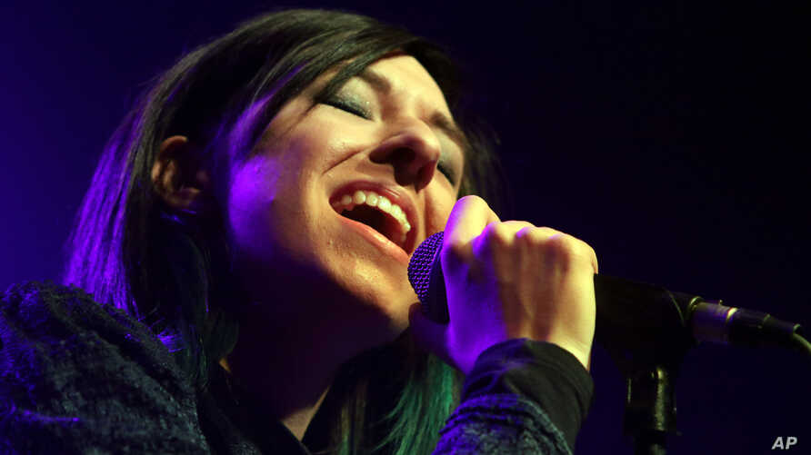 Christina Grimmie performs as the opener for Rachel Platten at Center Stage Theater on March 2, 2016, in Atlanta.