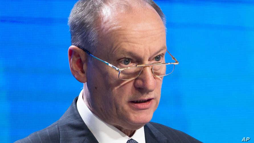 Kremlin Security Council Secretary Nikolai Patrushev speaks at an international security conference in Moscow, Russia, April 27, 2016.