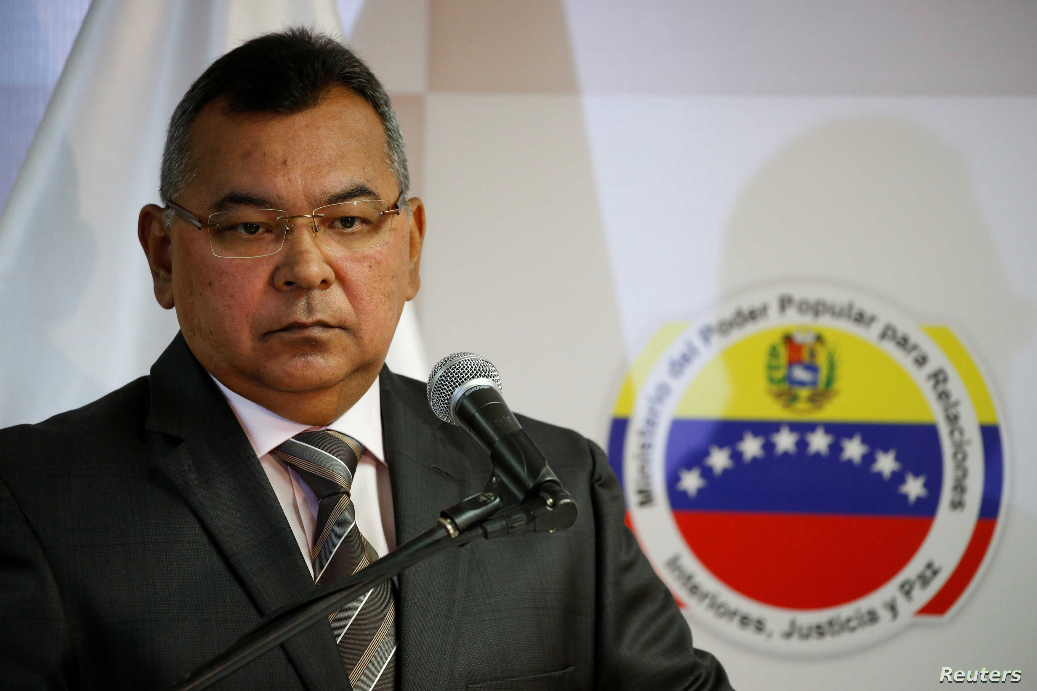 Venezuela's Interior and Justice Minister Nestor Reverol attends to a news conference in Caracas, Aug. 22, 2016.