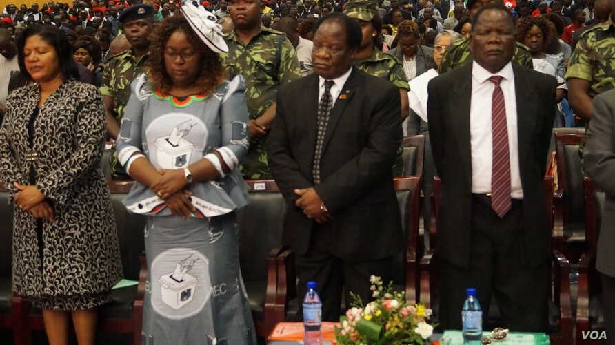 Delegates to the camapign launch also prayed for a peaceful and violent free elections in May.
