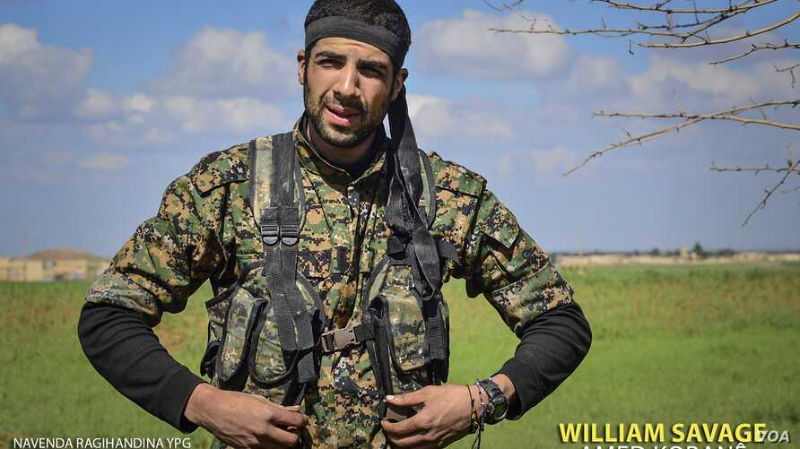 American volunteer William Savage is pictured during a training session with the Kurdish People's Protection Units (YPG) in Syria. (Photo courtesy of the YPG Media Center)