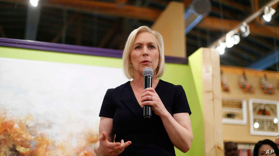 Democratic presidential candidate Sen. Kirsten Gillibrand, D-N.Y., speaks at a campaign meet-and-greet in Clawson, Mich., March 18, 2019.
