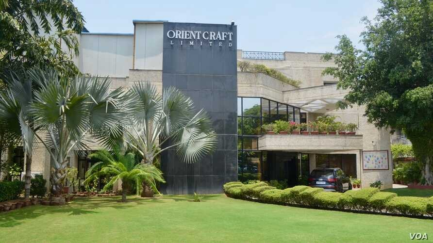 Orient Craft, one of India's largest apparel exporters, says it could benefit from increased business as the US-China trade war intensifies. This building in Gurgaon on the outskirts of Delhi houses its office and one of its garment units.