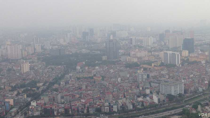 Most Vietnamese worry about air pollution, but it's cited most highly as a concern in Hanoi, which is closer to the polluting factories of southern China.