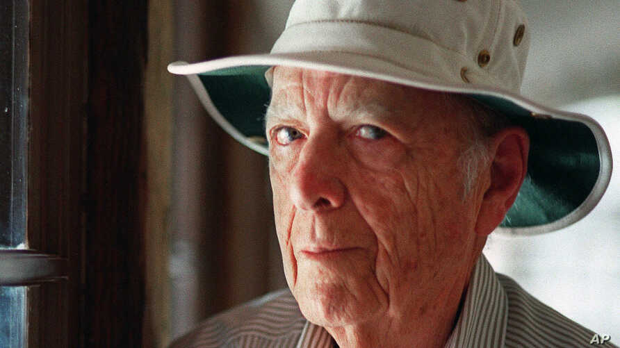 FILE - Pulitzer Prize-winning author Herman Wouk is seen in Palm Springs, Calif.,  May 15, 2000.