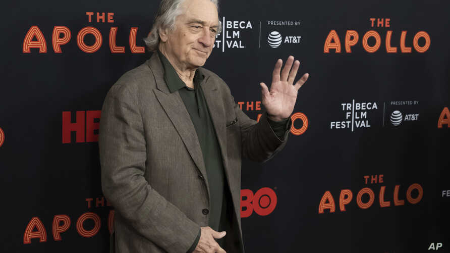 Robert De Niro, who co-founded the Tribeca Film Festival, attends the screening for 'The Apollo' during the 2019 Tribeca Film Festival at the Apollo Theater on April 24, 2019, in New York. (