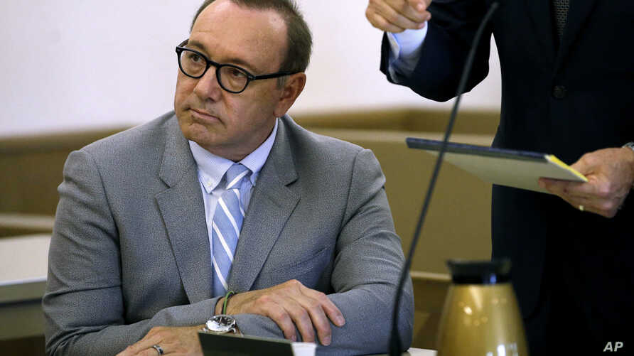 Actor Kevin Spacey attends a pretrial hearing on Monday, June 3, 2019, at district court in Nantucket, Mass.