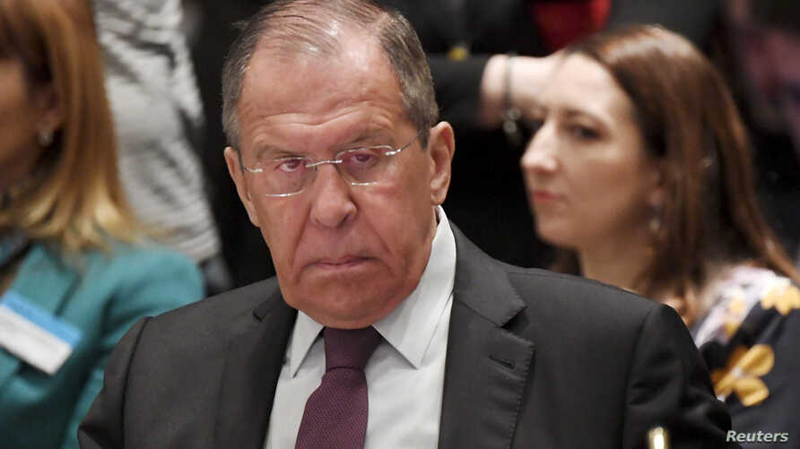 Russia's Minister of Foreign Affairs Sergei Lavrov attends The Ministers for Foreign Affairs of the Council of Europe's annual meeting in Helsinki, Finland, May 17, 2019.