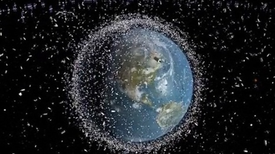 European Space Agency photo of space debris