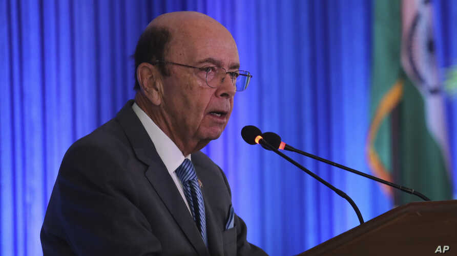 US commerce secretary Wilbur Ross speaks at the 11th Trade Winds Business Forum and Mission hosted by the US Department of Commerce, in New Delhi, India, May 7, 2019.