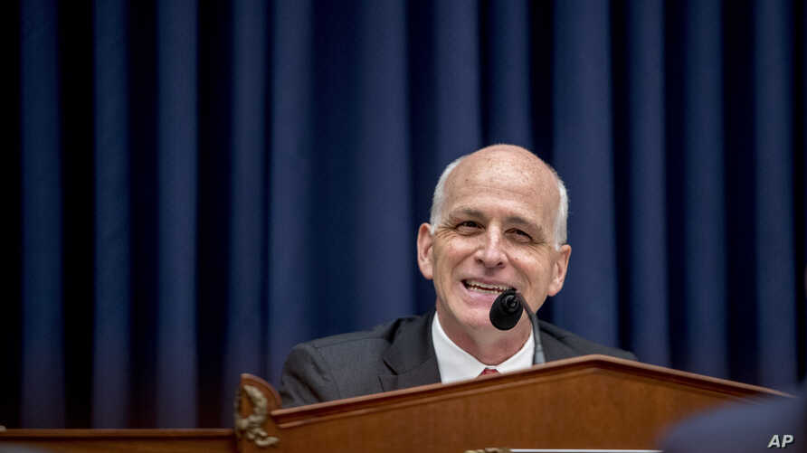 FILE - Chairman Adam Smith, D-Wash., speaks before a House Armed Services Committee budget hearing for the Departments of the Army and Air Force on Capitol Hill in Washington, April 2, 2019.