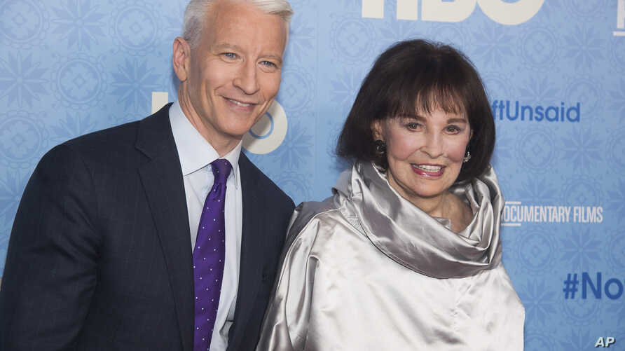 Gloria Vanderbilt and Anderson Cooper