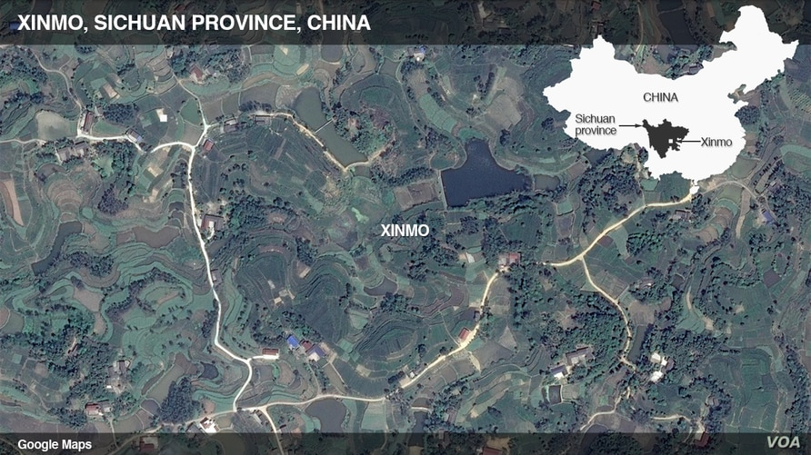 Sichuan province, China map