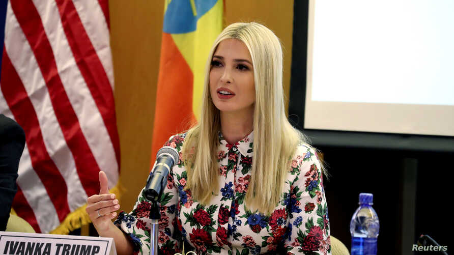 White House Advisor Ivanka Trump attends the African Women's Economic Empowerment Dialogue meeting at the United Nations Economic Commission for Africa (UNECA) headquarters, as part of her four-day trip to Africa to promote a global women's initiativ...