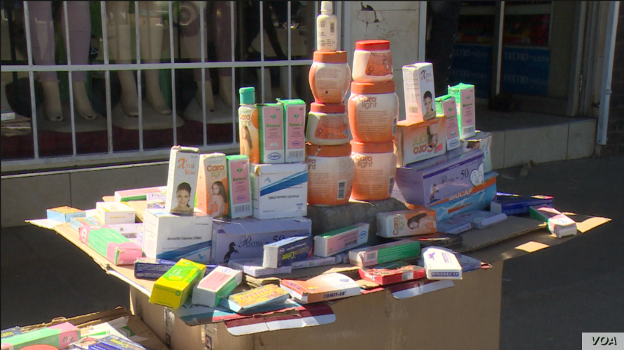 Drugs and herbs in the streets of Harare, June 11, 2019,) are providing some relief to Zimbabweans failing to access medical care.