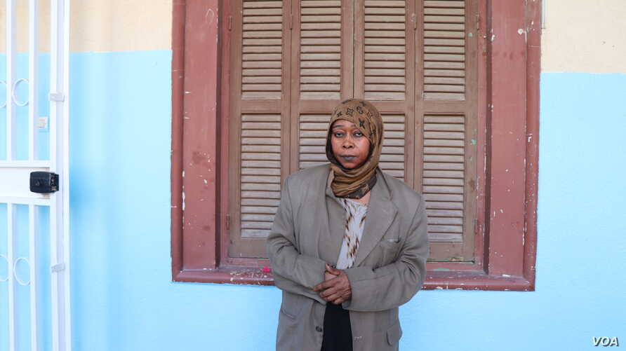 Nafisa, 45, escaped genocide in Darfur, Sudan in 2003, only to be displaced three more times, including in Libya.