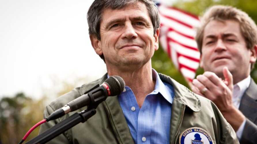 Former 3-star Admiral Joe Sestak is seen at a political rally in an undated photo from his campaign website joesestak.com.