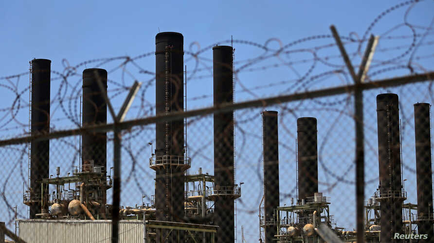A view shows the Gaza power plant in the central Gaza Strip June 23, 2019.