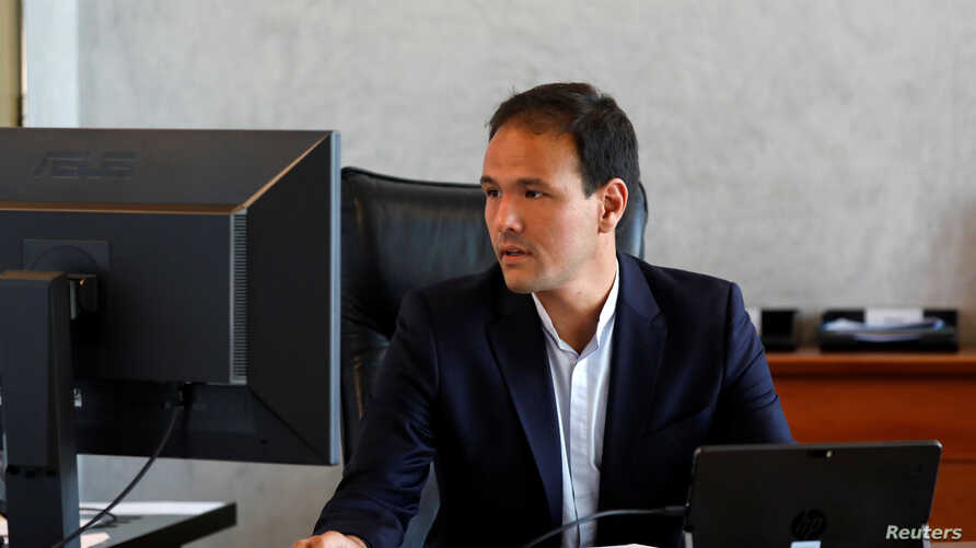 Cedric O, French Junior Minister for the Digital Sector, poses after an interview with Reuters at the Bercy Finance Ministry in Paris, France, June 25, 2019.
