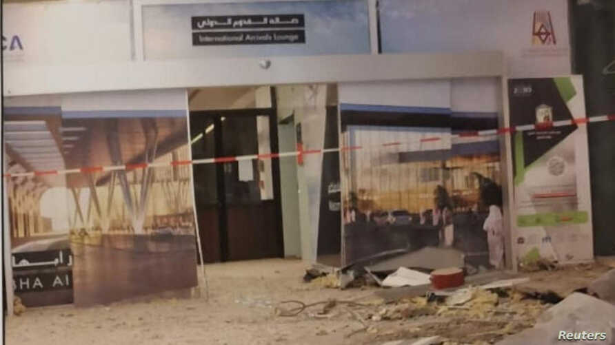 Damage of Saudi Arabia's Abha airport is seen after it was attacked by Yemen's Houthi group in Abha, Saudi Arabia, June 12, 2019.